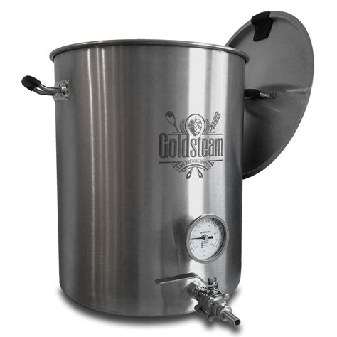 kettle brew equipment welded gallon brewmaster boiling brewing stainless steel goldsteam homebrew craft supplies beer select options