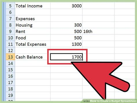 how to create a budget spreadsheet with wikihow