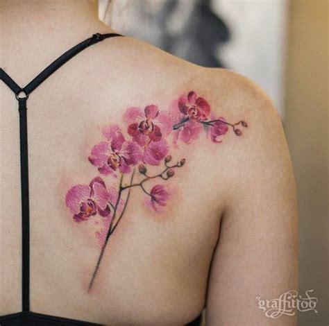 orchid tattoo ideas  pinterest shoulder