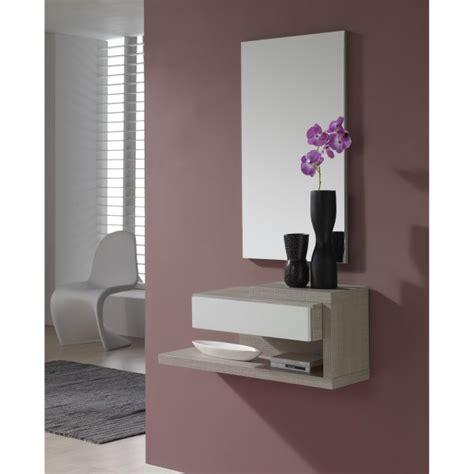 cuisine chene blanc meuble d 39 entrée design miroir concept