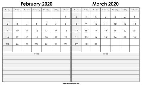 february march  calendar qualads
