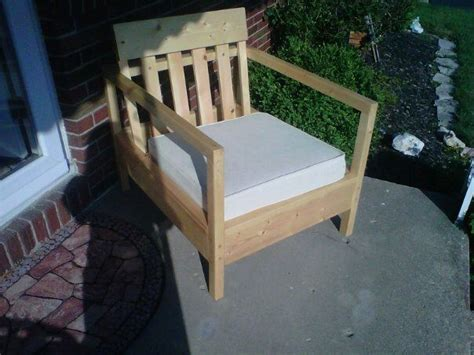 ana white simple outdoor chair diy projects