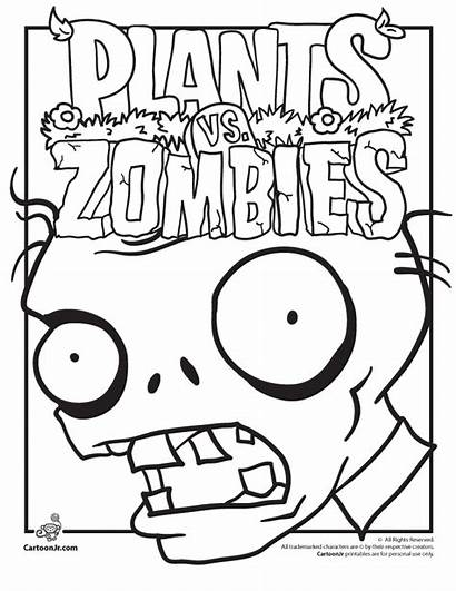 Coloring Zombies Plants Pages Printable Zombie Colouring