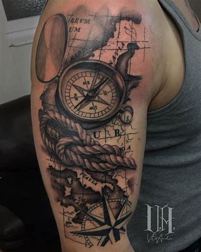 Compass Tattoo Tattoos Way Prochronism Meaning Tatto