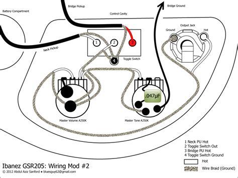 ca gear ibanez gsr205 wiring mod 2