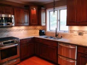 kitchen backsplash cherry cabinets kitchen backsplash ideas with cherry cabinets fireplace home bar transitional expansive