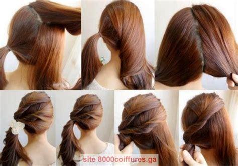 Belle coiffure facile cheveux mi long noel