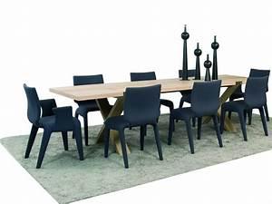 table et chaises salle a manger roche bobois With meuble salle À manger avec chaise cuir couleur