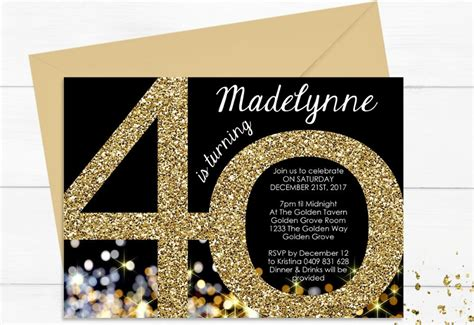 FREE 13+ Black and Gold Birthday Invitation Designs