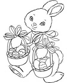 Easter Bunnies Coloring Pages Printable
