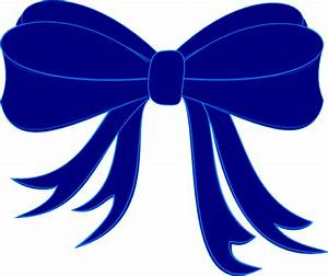 Blue Bow Ribbon Clip Art at Clker.com - vector clip art ...
