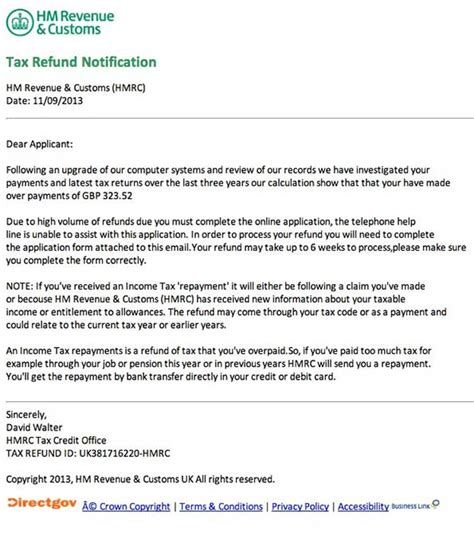 sample letter claiming tax refund