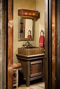 chalet en bois a lame tres rustique vivons maison With salle de bain design avec evier rustique