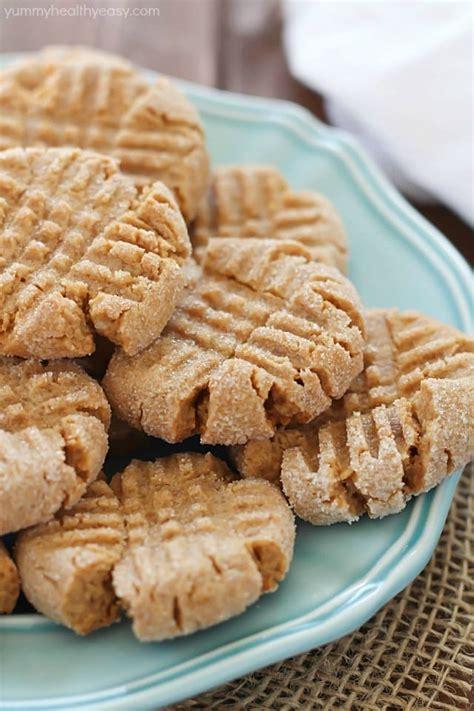 simple peanut butter cookies healthier easy peanut butter cookies yummy healthy easy