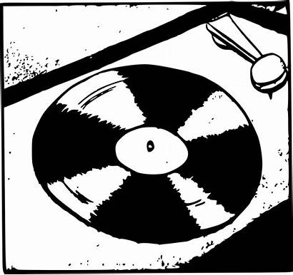 Vinyl Record Vector Clipart Turntable Simple Table