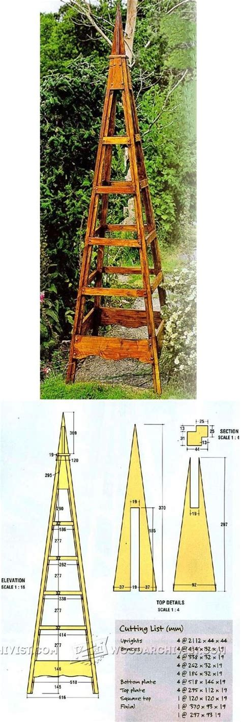 pyramid trellis plans outdoor plans  projects wood