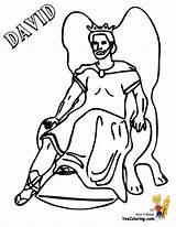 Coloring David King Throne Bible Jesus Yescoloring Printable Glorious sketch template