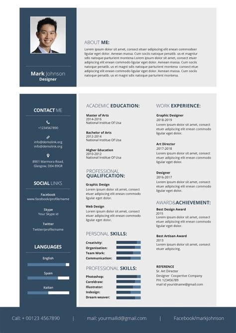 Graphic Design Resume Template by Graphic Designer Resume Template 17 Free Word Pdf