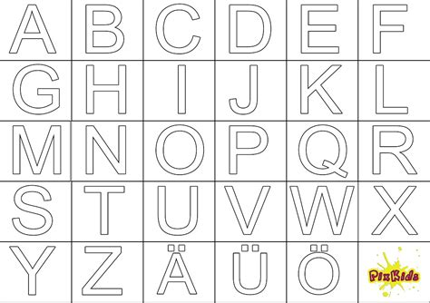 Bilder Groß Drucken by Ausmalbilder Alphabet Kostenlos Malvorlagen Zum