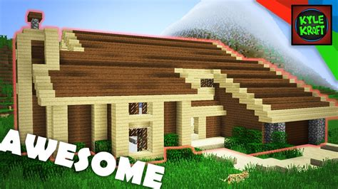 minecraft awesome medium  survival house tutorial youtube