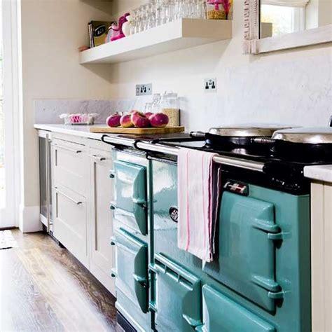 aga  inspired   elegant painted kitchen