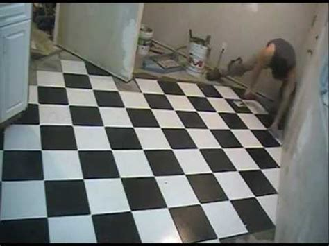 "Checkerboard Floor Tile Installation 12"" x 12"" Diamond"