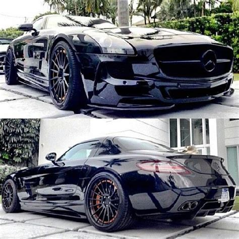Stunning Black Mercedes Sls Amg  Luxury Car Lifestyle