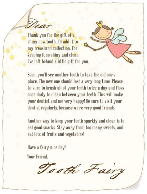 letter   tooth fairy  tooth fairy