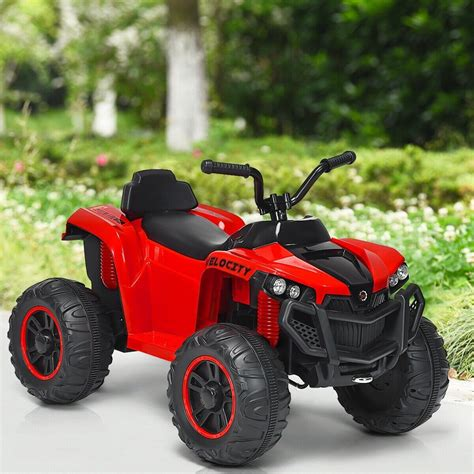 kids  wheeler quad atv battery powered ride  toy