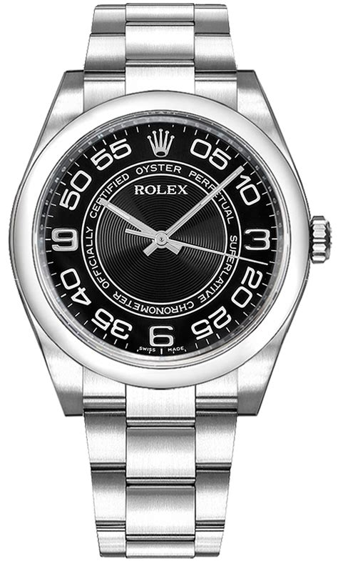 116000 Rolex Oyster Perpetual 36 Concentric Circle Black ...
