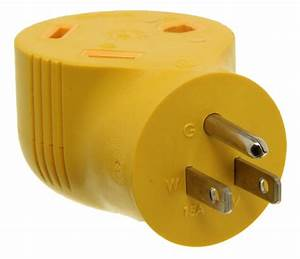 Power Grip Rv Power Cord Adapter Plug - 125v