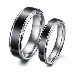 Gold mens rings titanium stainless steel black vintage for Mens stainless steel wedding rings