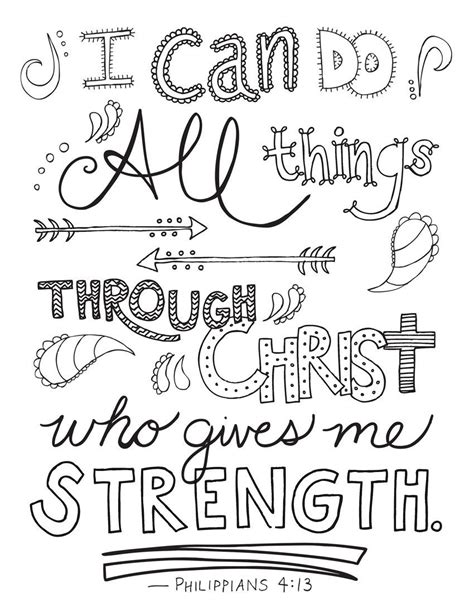 bible verse coloring page philippians  printable