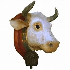 Tete De Vache Deco : d coration murale bois peint t te de vache cusson ~ Melissatoandfro.com Idées de Décoration