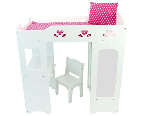 american bunk bed with desk 18 inch doll furniture white loft doll bed with desk
