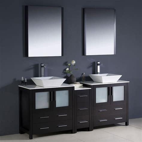 fresca torino espresso double sink vanity  white