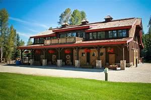 Modern barndominium exterior rustic with eldorado stone