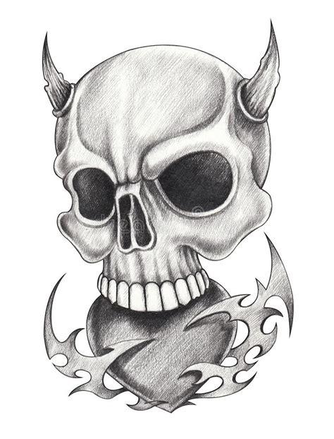 Devil Angel Skull Make Love Stock Illustration