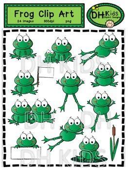 frog clip art  dh kids teachers pay teachers
