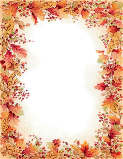 holiday seasonal fall thanksgiving stationery papers
