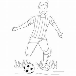 Jeux De Footballeurs : le footballeur en coloriage en ligne ou coloriage imprimer ~ Medecine-chirurgie-esthetiques.com Avis de Voitures