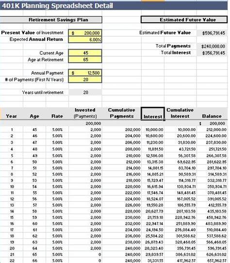 planner spreadsheet templates