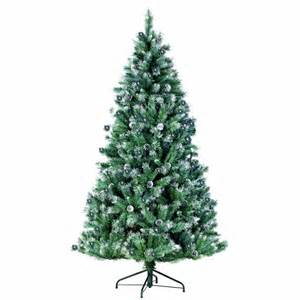 Christmas Tree 7ft Uk by 7ft Pre Lit Spruce Fir Artificial Christmas Tree With Snow
