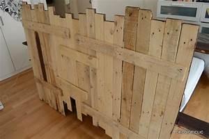 Faire Une Tête De Lit En Bois : ordinaire tete de lit en bois de recuperation 2 fabriquer une t234te de lit en palette ~ Teatrodelosmanantiales.com Idées de Décoration