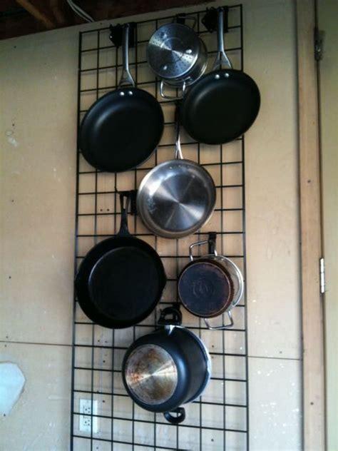 kitchen wall grid check kitchen pans pot hanger kitchen kitchen wall storage