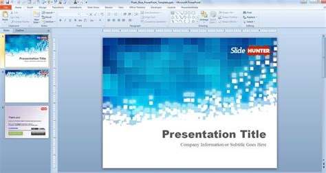 templates powerpoint gratis free pixels blue powerpoint template