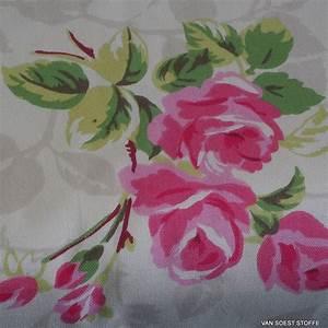 Stoff Auf Stoff Nähen : rosen chintz deko stoff auf 100 bio baumwolle dekostoffe ~ Lizthompson.info Haus und Dekorationen