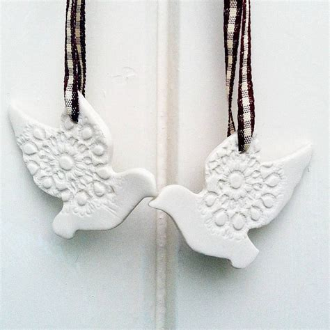 personalised turtle doves christmas decoration products