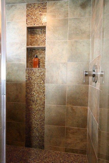 accent tile   vertical shower