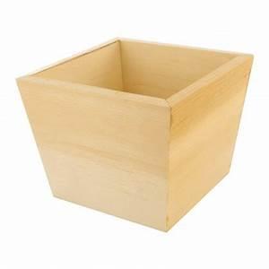 Cache Pot Bois : cache pot 11x11x9 cm en bois brut d corer ~ Teatrodelosmanantiales.com Idées de Décoration